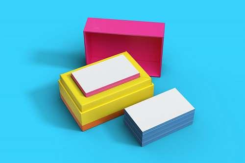 box  business card mockup