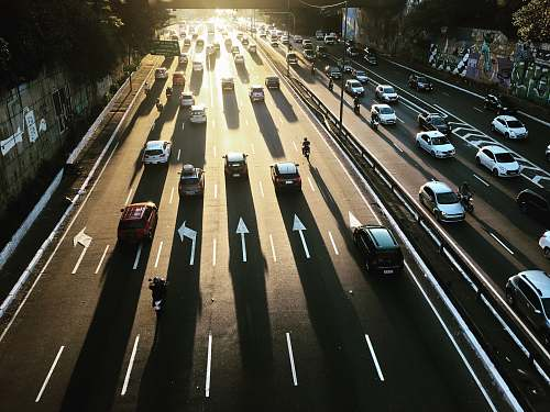freeway aerial photography of highway road road