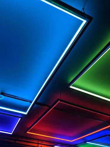 neon assorted ceiling lights light