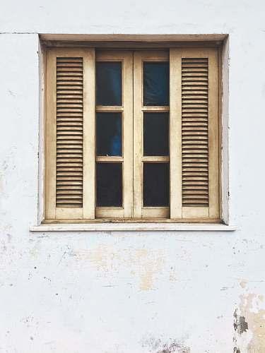 window brown wooden window vintage