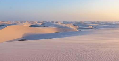 desert field of white sand dune