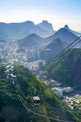 photo rio de janeiro high-angle photography of cable car scenery free for commercial use images