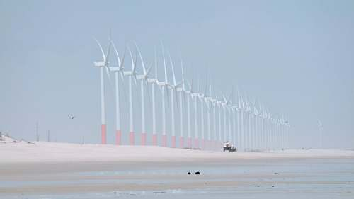 turbine landscape photography of wind mills atins