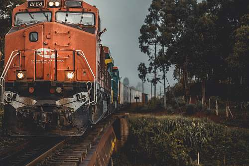 train train during golden hour vehicle