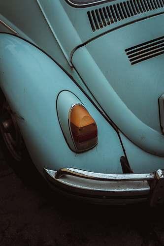 headlight white beetle on road light