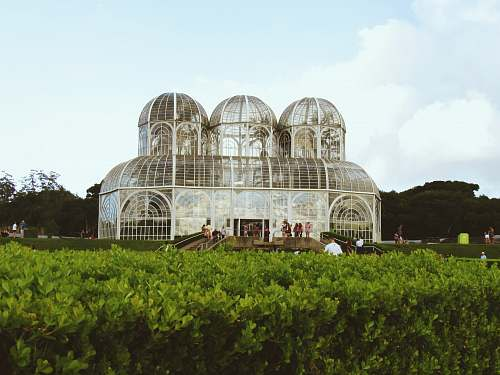 architecture building surrounded by green plants dome