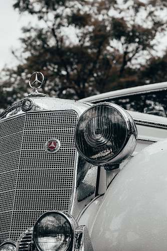 automobile grayscale photography of classic Mercedes Benz car vehicle