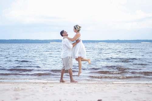 person couple at beach manaus