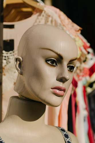 person mannequin head people