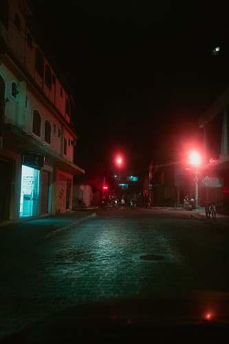 flare empty pavement at night rio de janeiro