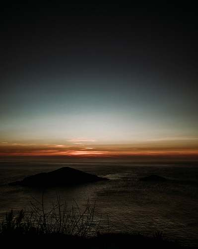 sunset desert at night sky