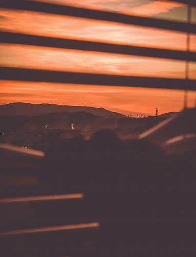 sunrise orange sky during daytime sunset