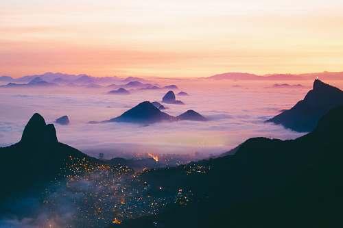 sunrise scenery of body of water sky