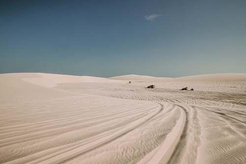 soil white sand under blue sky sand
