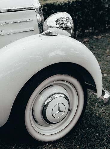 spoke white Mercedes-Benz vehicle machine