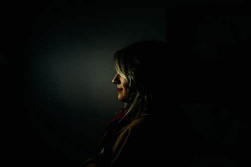 portrait woman facing sideways human