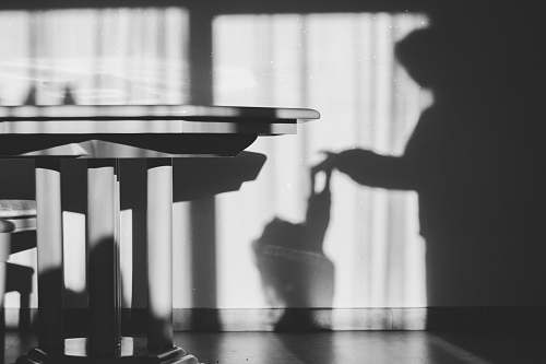 grey grayscale photography of table leisure activities