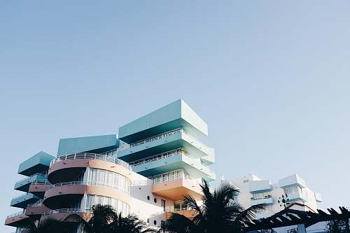 architecture multicolored high-rise building during daytime hotel
