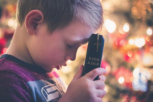 photo boy holding Holy Bible free for commercial use images