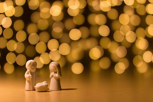 photo shallow focus photo of the Nativity figurine free for commercial use images
