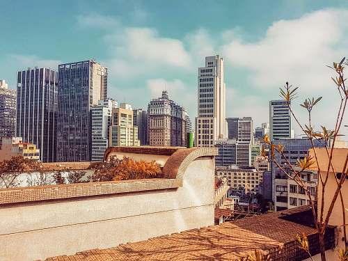 building gray concrete buildings city