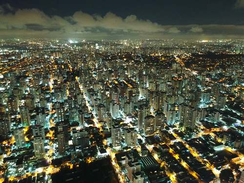 city aerial photography of cityscape urban