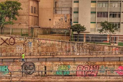 street graffiti wall arts walk