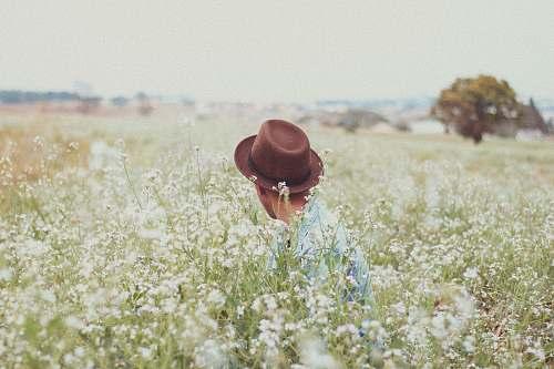 flowers men's brown hat cowboy hat