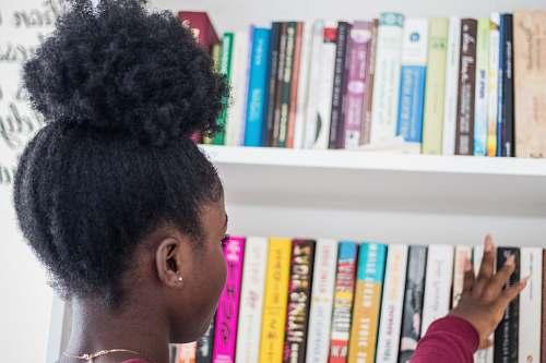 book assorted books hair