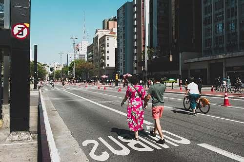 person people walking on street human