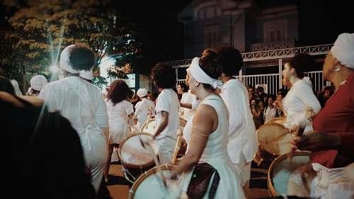 human people parade during nighttime people