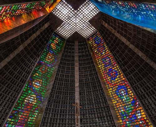 art low-angle photography of church ceiling architecture