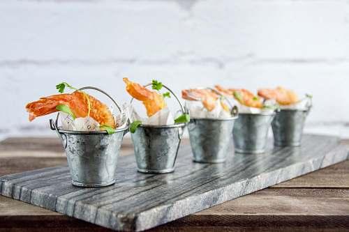 sushi five steel buckets with tempura london