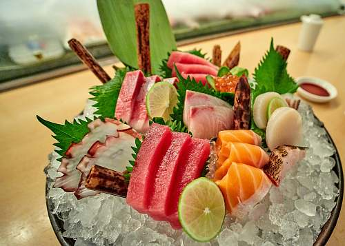 sushi served raw meat morimoto