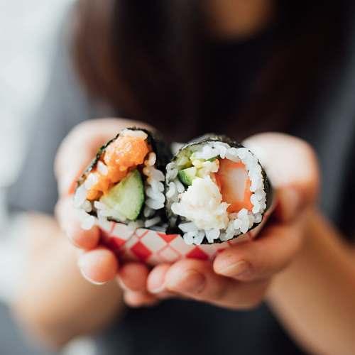 person sushi food human