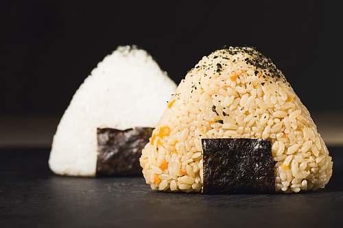 seasoning two rice bowls sesame