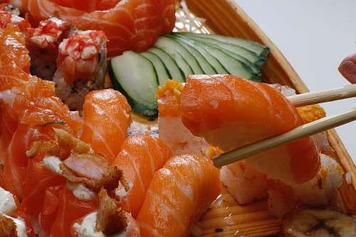 sushi variety of sushi fish