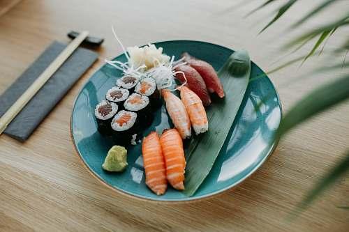 food sushi on plate wrocław