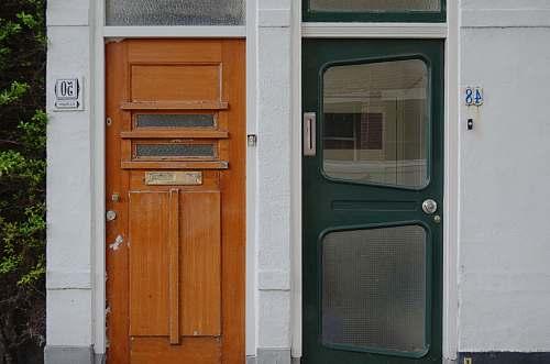 door green 2-lite door monster