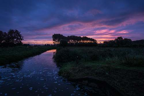 nature calm water ditch