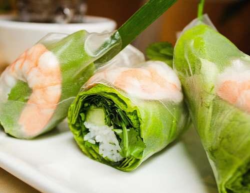 sushi vegetable sushi on plate plant