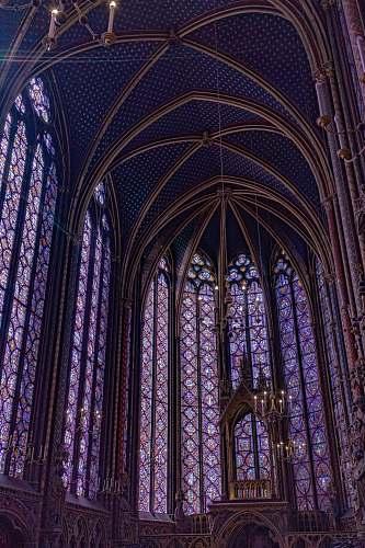 architecture inside concrete church view saint chapelle