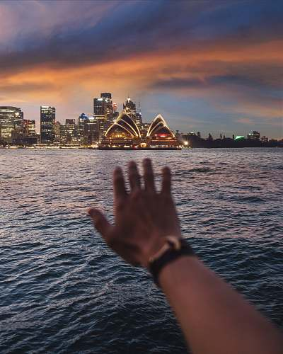 architecture person left hand on body of water sydney