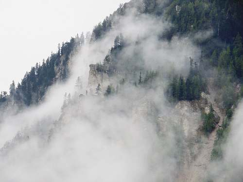 fog landscape photography of green mountain savoie