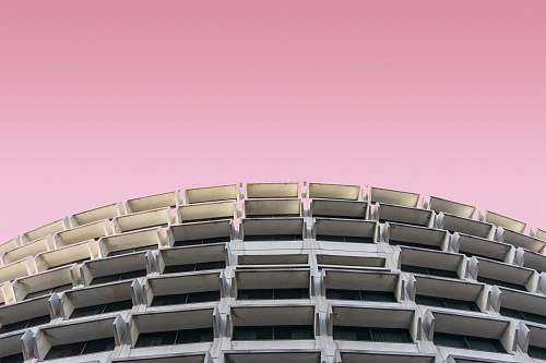 france gray high rise building pink