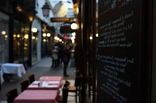 france shallow focus photography of restaurant menu cafe