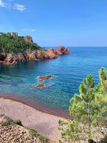 nature seashore with clear blue sea during daytime france