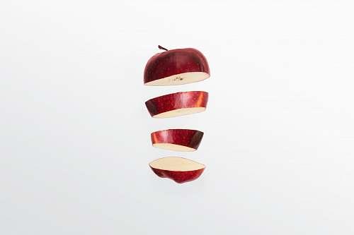 food red apple sliced plant