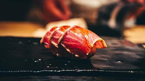 pork bacon strip sushi rin nishimura