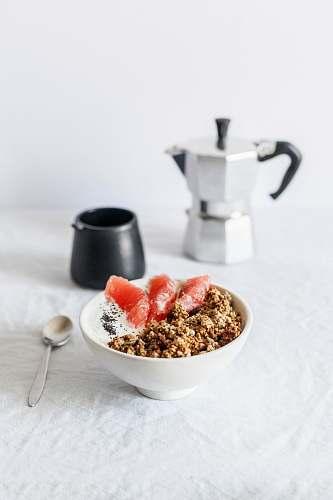 meal food in bowl breakfast